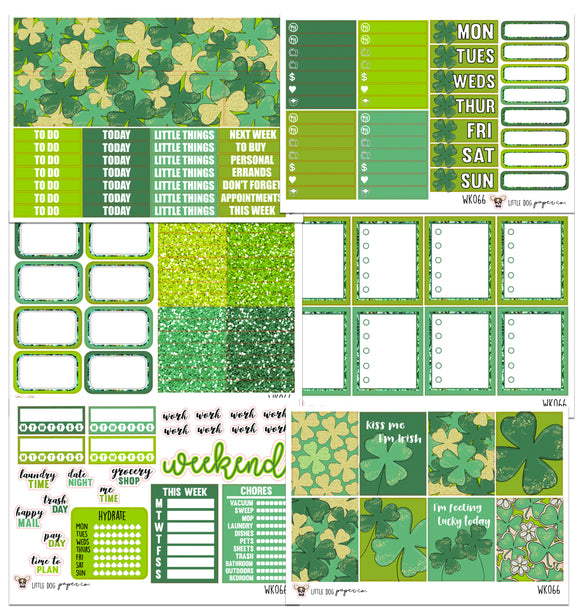 WK066 // St. Patrick's Day Collection // Planner Stickers