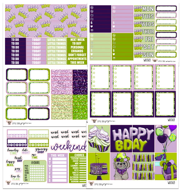 WK069 // Birthday Collection // Planner Stickers