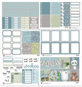 WK070 // Baby Boy Collection // Planner Stickers