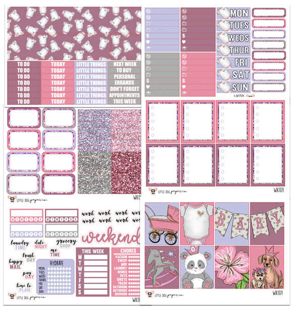WK071 // Baby Girl Collection // Planner Stickers