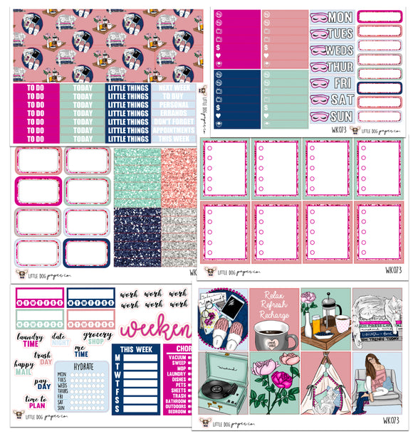 WK073 //  Chill & Relax Collection // Planner Stickers