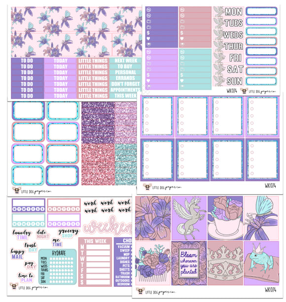 WK074 //  Spring Fairy Collection // Planner Stickers