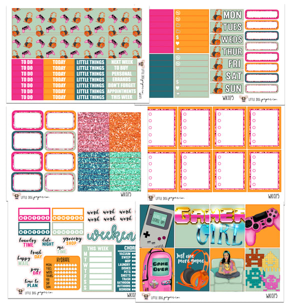 WK075 //  Gamer Girl Collection // Planner Stickers