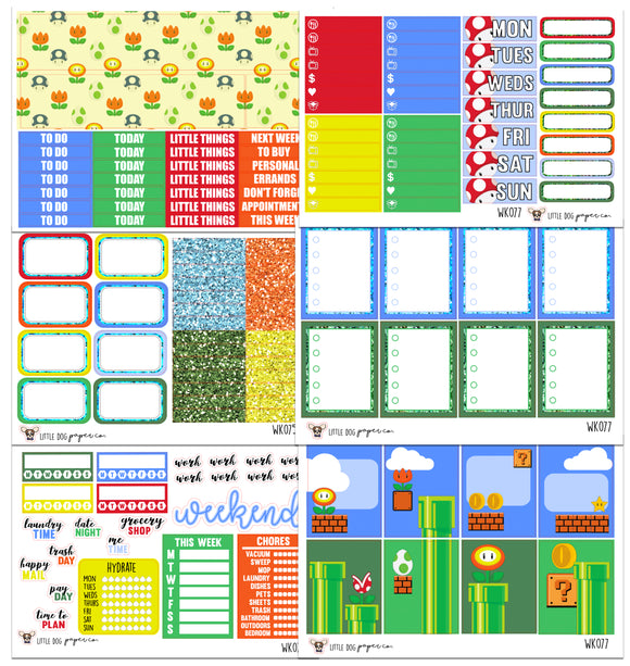 WK077 //  One Up Collection // Planner Stickers