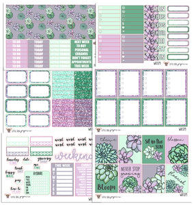 WK079 // Never Stop Growing Collection // Planner Stickers