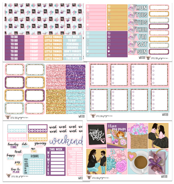 WK081 // I Love Mom Collection // Planner Stickers