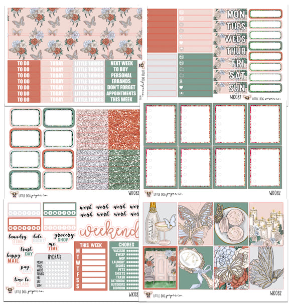 WK082 // Butterfly Beauty Collection // Planner Stickers