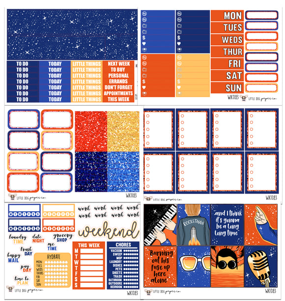 WK083 // Rocket Man Collection // Planner Stickers