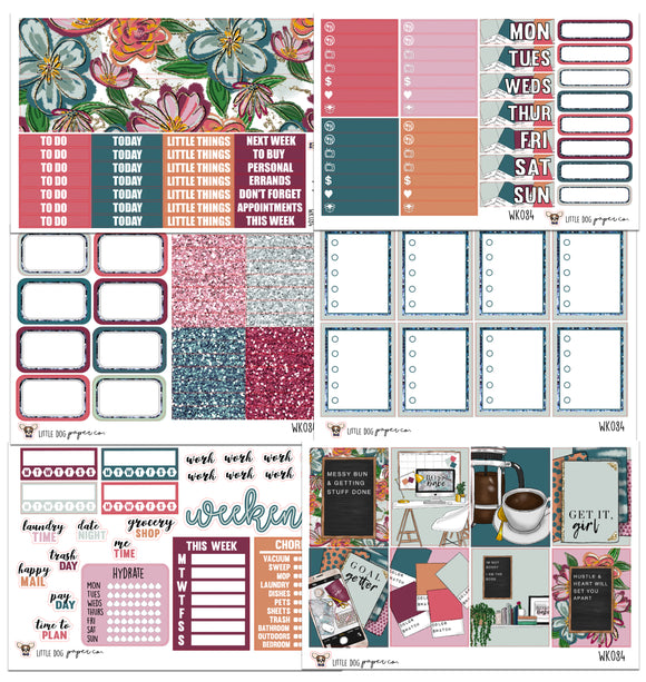 WK084 // Boss Babe Collection // Planner Stickers