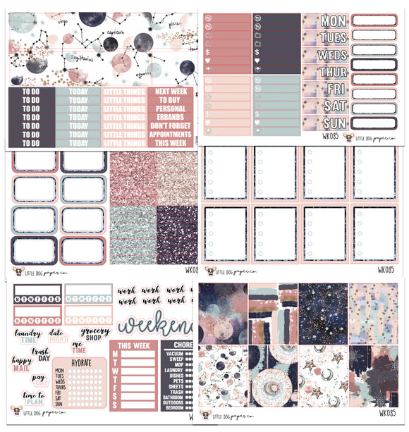 WK085 //  Moon and Stars Collection // Planner Stickers