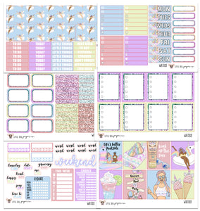 WK088 // Unicorn Pool Party Collection // Planner Stickers