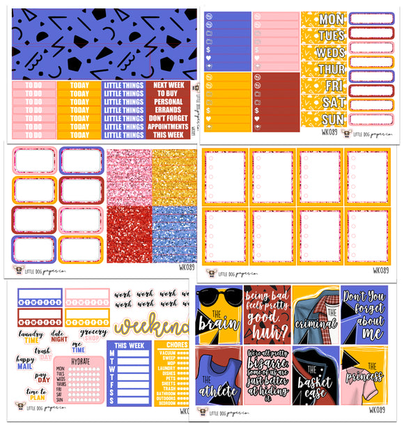 WK089 // Sincerely Yours Collection // Planner Stickers