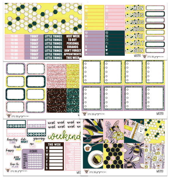 WK090 // Bumble Babe Collection // Planner Stickers