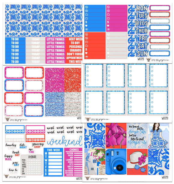WK091 // Santorini Collection // Planner Stickers