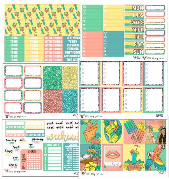 WK092 // Tropical Summer Collection // Planner Stickers