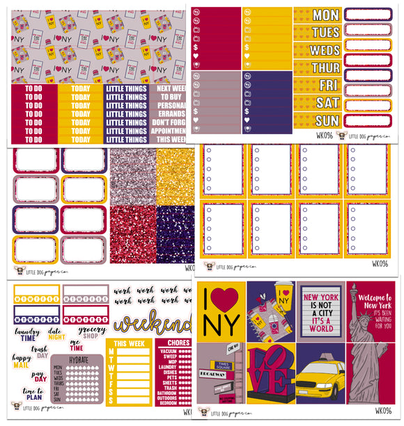 WK096 // I <3 NY Collection // Planner Stickers