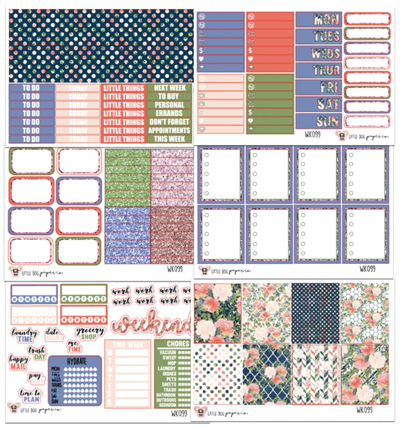 WK099 // Watercolor Floral Collection // Planner Stickers