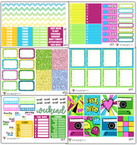 WK09 // I Heart the 80's Collection // Planner Stickers
