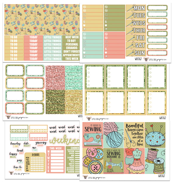 WK067 // Sewing Collection // Planner Stickers