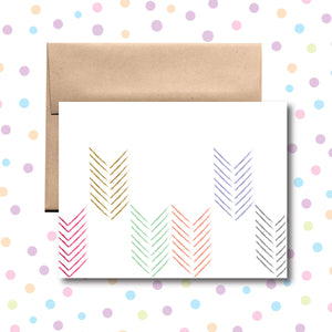 GC032 Colored Arrows Card Any Occasion Card