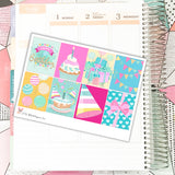 Happy Birthday Kit // Planner Stickers