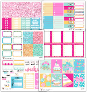Happy Birthday Collection // Planner Stickers