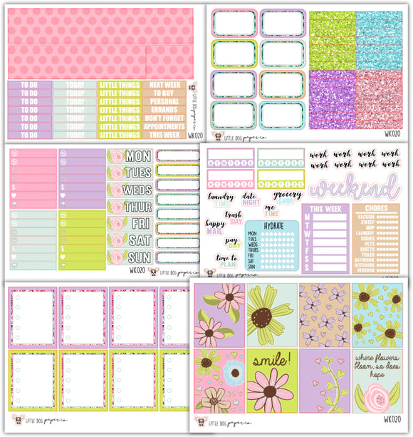 WK020 Bloom Collection // Planner Stickers