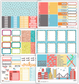 WK013 I Heart Boston Collection // Planner Stickers