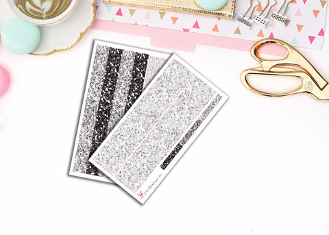 "Grayscale // Long ""Washi"" Strip Stickers"