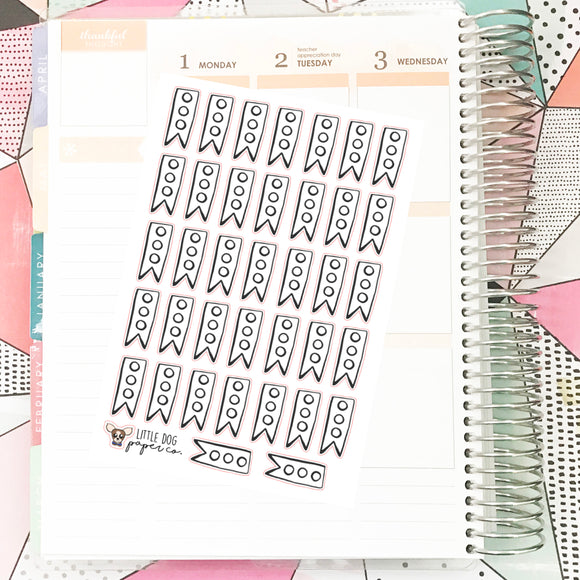 Bullet Journal // Mini Checklist Flags // Planner Stickers