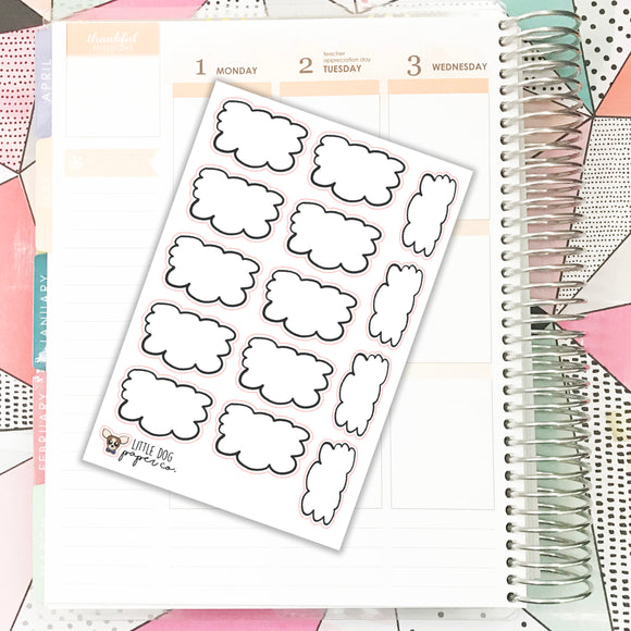 BUJO030 // Squiggle Boxes // Planner Stickers  // Bullet Journal