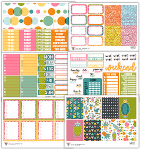 WK023 Prickly Cactus Collection // Planner Stickers
