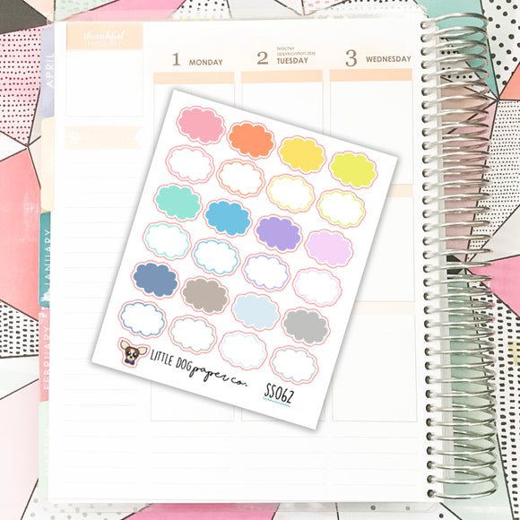 Cloud Stickers // Planner Stickers