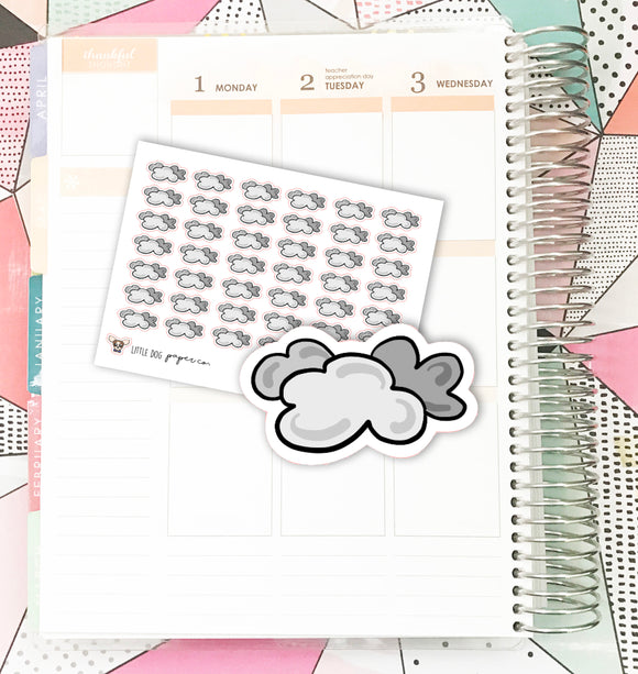 Cloudy Weather // Planner Stickers
