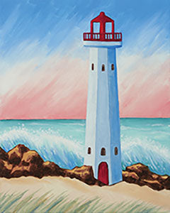 Coastal Lighthouse 16x20 Canvas -- Friday, July 5th at 6pm