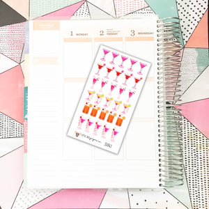 SS043 // Cocktail Stickers // Planner Stickers