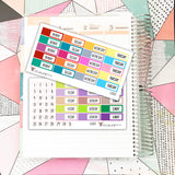 SS049 // Date Cover Stickers // Planner Stickers