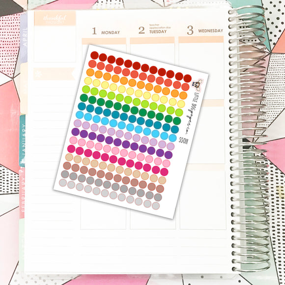 SS011 // Bullet Journal // Colored Dots // Planner Stickers
