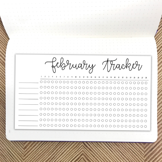 Bullet Journal // February Habit Tracker // Planner Stickers