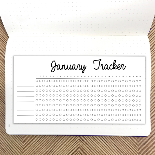 Bullet Journal // January Habit Tracker // Planner Stickers
