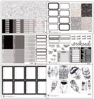 WK016 Feathers Collection // Planner Stickers