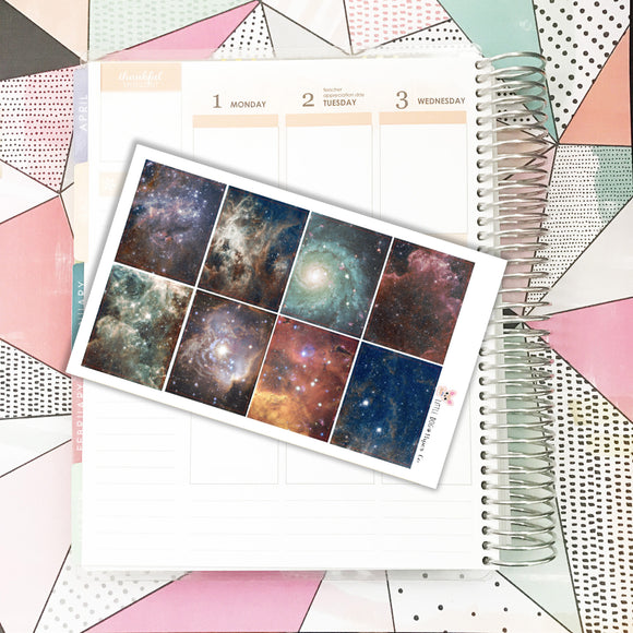 Galaxy Squares // Planner Stickers