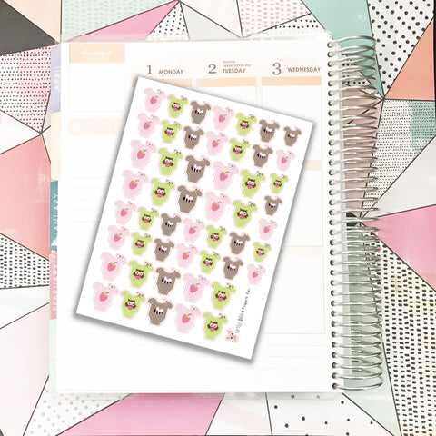 Girl Baby Stickers // Planner Stickers