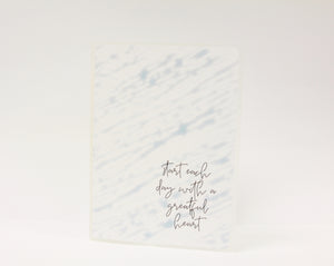 Sticker Album // Start Each Day With a Grateful Heart