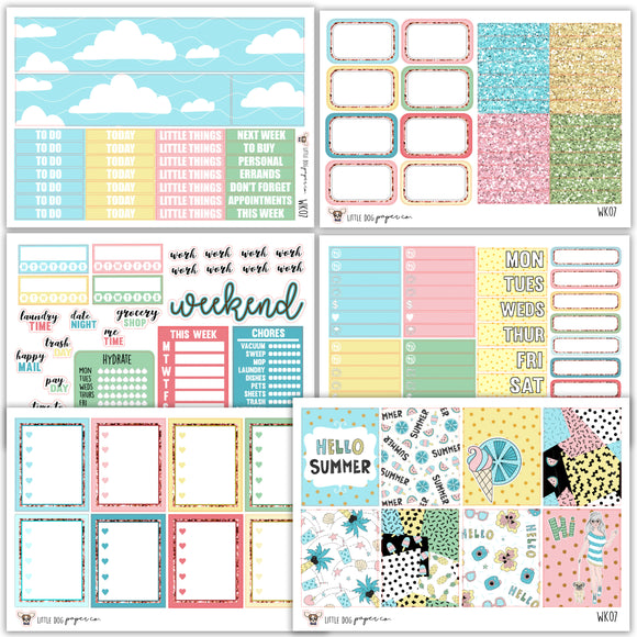 WK07 // Hello Summer Collection // Planner Stickers