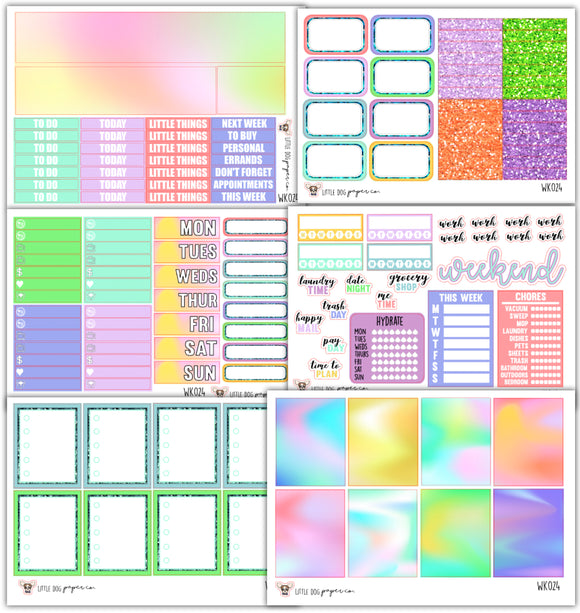 Holo Collection // Planner Stickers