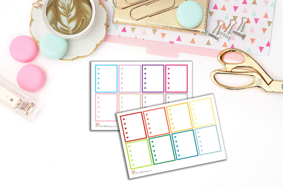 Heart Checklist Box Stickers // Planner Stickers