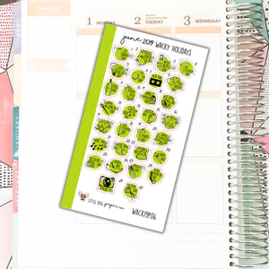 WACK19P06 // JUNE 2019 Wacky Holidays // Personal Planner Size