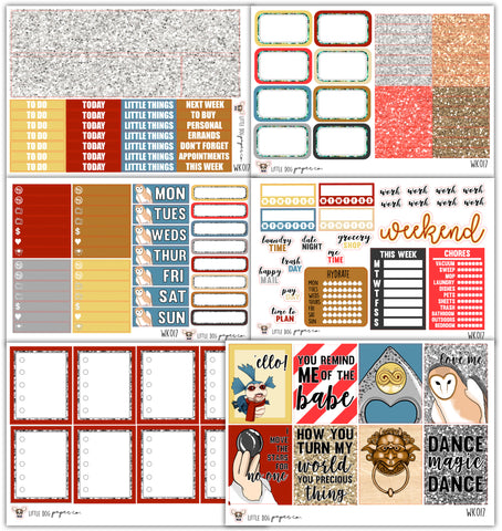 Goblin King Kit // Planner Stickers