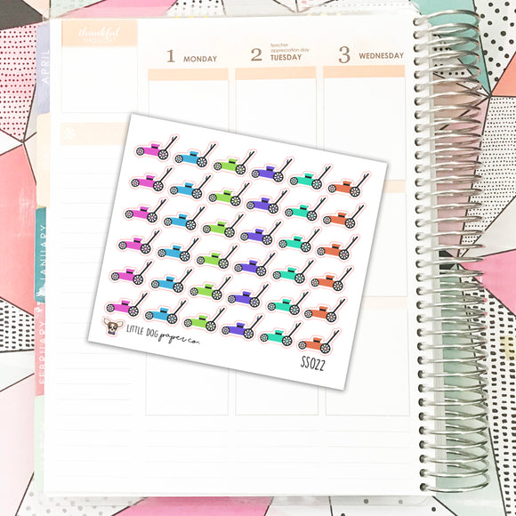 SS022 // Lawnmower Planner Stickers